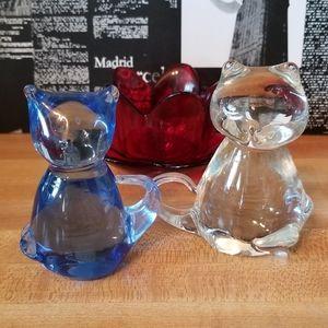 Art Glass Cat Figurines